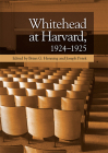 Whitehead at Harvard, 1924-1925 Cover Image