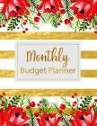 Monthly Budget Planner: Floral Vintage Stripes Weekly Expense Tracker Bill Organizer Notebook Business Money Personal Finance Journal Planning Cover Image