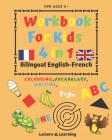 Children's Activity Book 4-in-1 Bilingual English-French: Colouring, Vocabulary, Writing and Maths: Crafts & Games for Kids aged 5 and above Cover Image