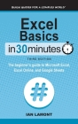 Excel Basics In 30 Minutes: The beginner's guide to Microsoft Excel, Excel Online, and Google Sheets Cover Image