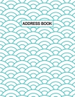 Low Vision Address Book: Contacts and Password Record Book Large Print With Bold Lines on White Paper For Visually Impaired Cover Image
