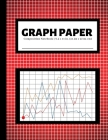 Graph Paper Composition Notebook: 200 Pages - 4x4 Quad Ruled Graphing Grid Paper - Math and Science Notebooks - Red Cover Image