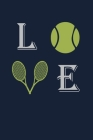 Love: Blank Lined Tennis Player Gifts Journal Cover Image