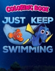 Coloring Book: Womens Finding Dory Just Swimming With Nemo V-Neck, Children Coloring Book, 100 Pages to Color Cover Image