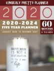 5 Year Planner 2020-2024: planner 5 year with holidays: password keeper and Journal, 60 Months Calendar (5 Year Monthly Plan Year 2020, 2021, 20 Cover Image