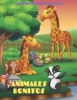 ANIMALES BONITOS - Libro De Colorear Para Niños: Animales Marinos, Animales de Granja, Animales de la Selva, Animales del Bosque Y Animales del Circo Cover Image