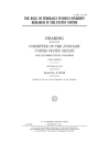 The role of federally funded university research in the patent system: hearing before the Committee on the Judiciary, United States Senate, One Hundre Cover Image
