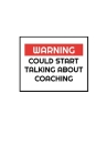 Warning Could Start Talking About Coaching: Football Manager, Soccer Coach Appreciation Gift - Thoughtful Birthday or Thank You Present For A Special Cover Image