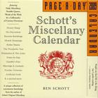 Schott's Miscellany Page-A-Day Calendar 2009 Cover Image