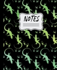 Notes: Watercolor Lizards Pattern 7.5