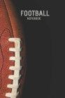 Football Notebook: Youth Football Helmet Notebook Coach Playbook Cover Image