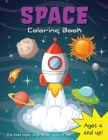 Space Coloring Book for Kids Ages 4-8! Cover Image