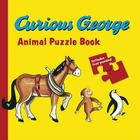 Curious George Animals Puzzle Book Cover Image