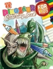 Dinosaur Coloring Book for Kids ages 4-8: With 50 Unique illustrations including T-Rex, Velociraptors, Stegosaurus and more! HAVE FUN COLORING THEM AL Cover Image