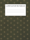 Composition Book: Stars Book for Kids Military Families, Elementary School Wide Ruled 120 Pages Cover Image