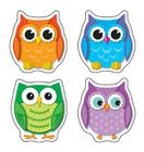 Colorful Owls Shape Stickers Cover Image