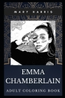 Emma Chamberlain Adult Coloring Book: Acclaimed Youtube Prodigy and TV Star Inspired Coloring Book for Adults Cover Image
