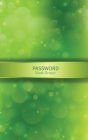 Password Book Green: Organizer for All Your Passwords with Tabs Cover Image