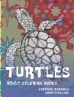 Adult Coloring Books Vintage Animals - Under 10 Dollars - Turtles Cover Image