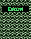 120 Page Handwriting Practice Book with Green Alien Cover Evelyn: Primary Grades Handwriting Book Cover Image