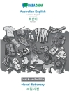 BABADADA black-and-white, Australian English - Korean (in Hangul script), visual dictionary - visual dictionary (in Hangul script): Australian English Cover Image
