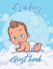 it's a boy Guest book: baby shower, BONUS Gift Tracker Log + Keepsake Pages / Baby Blue, Grey Little Peanut Cover Image