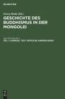 Vorrede. Text. Kritische Anmerkungen: Aus Dem Tibetischen Des Jigs-Med Nam-Mkʿa Cover Image