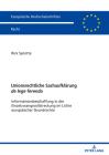 Unionsrechtliche Sachaufklärung de lege ferenda; Informationsbeschaffung in der Einzelzwangsvollstreckung im Lichte europäischer Grundrechte Cover Image