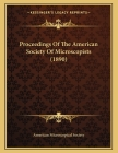 Proceedings Of The American Society Of Microscopists (1890) Cover Image