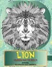 Coloring Book for Adults Relaxation Easy Mandala Animal - Lion Cover Image