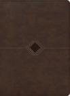 RVR 1960 Biblia cronológica, día por día, marrón símil piel Cover Image