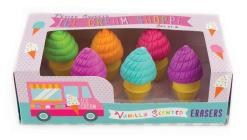 Petite Sweets Ice Cream Scented Erasers - Set of 6 Cover Image