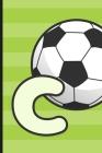C: Soccer Monogram Letter C Initial Notebook - 6