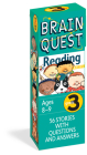 Brain Quest Grade 3 Reading: 56 Stories with Questions and Answers (Brain Quest Decks) Cover Image