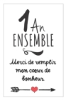 1 An Ensemble, Carnet De Notes: Idée Cadeau Noces De Coton, Pour femme, Pour Homme, Pour Célébrer L´Anniversaire De Votre Union Cover Image