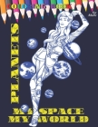 PLANETS MY SPACE MY WORLD Coloring book for adult: All ages to Color and Relax, Beautiful Celestial with Fun Easy Relaxation Stress Relieving much mor Cover Image