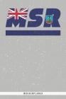 Msr: Montserrat Wochenplaner mit 106 Seiten in weiß. Organizer auch als Terminkalender, Kalender oder Planer mit der montse Cover Image