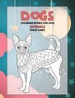 Coloring Books for Love - Animals - Thick Lines - Dogs Cover Image