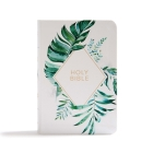 CSB On-the-Go Bible, White Floral Textured LeatherTouch Cover Image