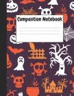 Composition Notebook: Black Halloween Themes Style, 8.5
