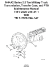 M44A2 Series 2.5 Ton Military Truck Transmission, Transfer Case, and PTO Maintenance Manual TM 9-2520-246-34-1 With TM 9-2520-246-34P Cover Image