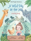 A Wild Day at the Zoo - Coloring Book Cover Image
