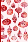 Notes: A Blank Sheet Music Notebook with Watercolor Retro Christmas Ornaments Cover Art Cover Image