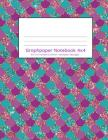 Graphpaper Notebook 4x4: Mermaid scales purple and turquoise design 100 pages of graph paper with bigger squares for younger students Cover Image