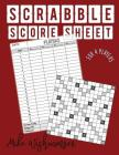Scrabble Score Sheet: The Amazing Scrabble Score Sheet You Need to Try for 4 Players Cover Image