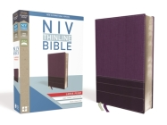 NIV, Thinline Bible, Large Print, Imitation Leather, Purple, Red Letter Edition Cover Image