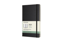 Moleskine 2021 Weekly Planner, 12M, Large, Black, Hard Cover (5 x 8.25) Cover Image