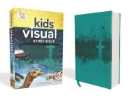 Niv, Kids' Visual Study Bible, Leathersoft, Teal, Full Color Interior: Explore the Story of the Bible---People, Places, and History Cover Image