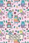 2020: Planer - Motiv: Süße Vintage Pastell Eulen - Greifvogel Kalender Terminplaner - Vogel Terminkalender Wochenplaner, Mon Cover Image