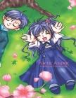 Arte Anime Libro da Colorare Cover Image